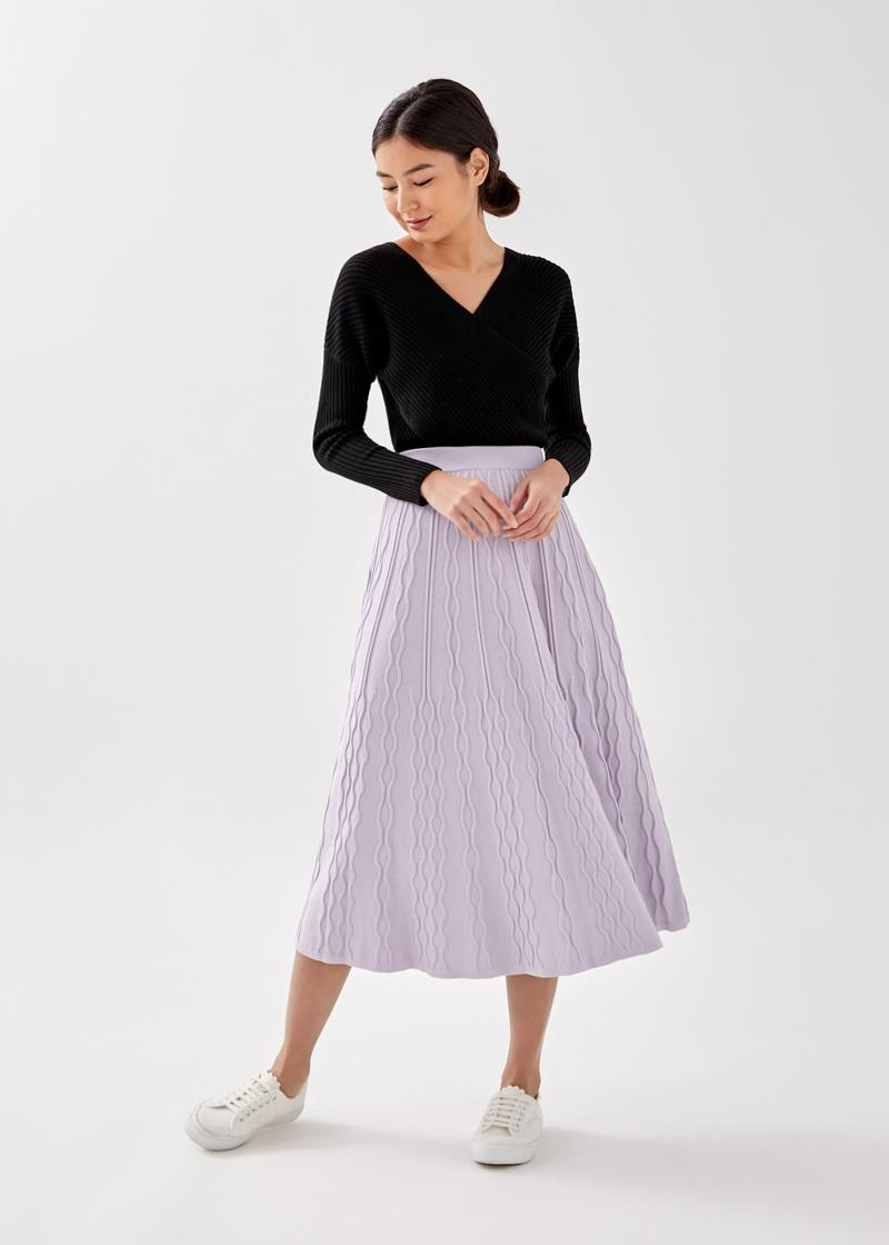 Clemence Cable Knit Midaxi Skirt