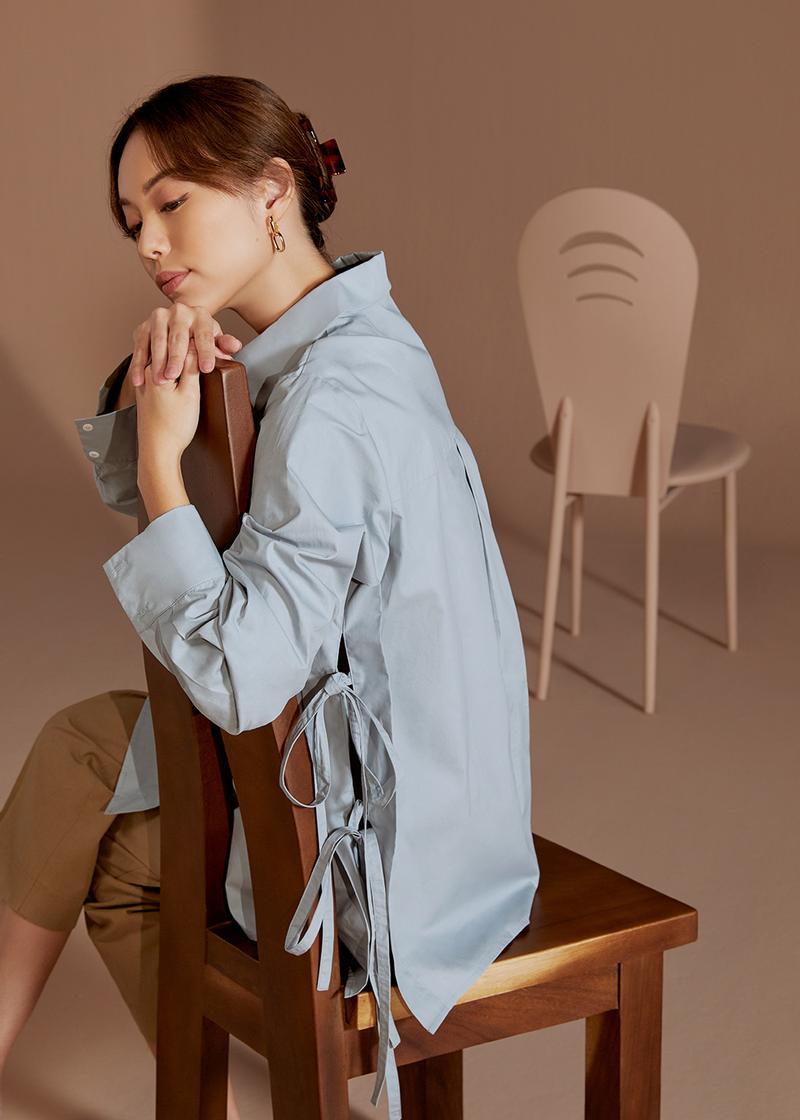 Sana Relaxed Ribbon Tie Shirt
