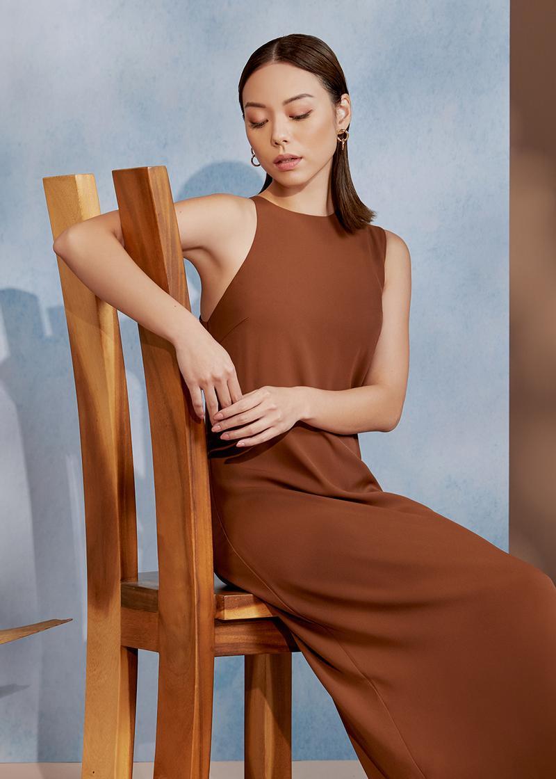 Marlo Asymmetrical Column Dress