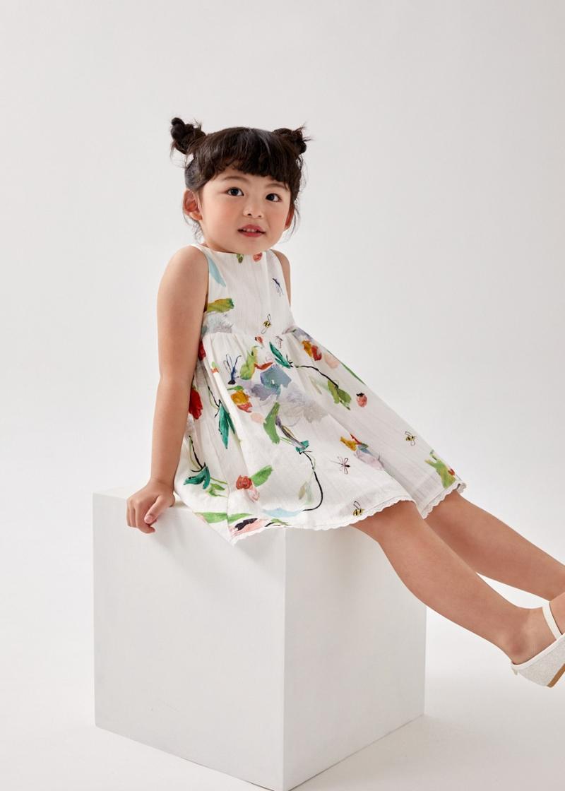 Alyssa Babydoll Dress in My Secret Garden