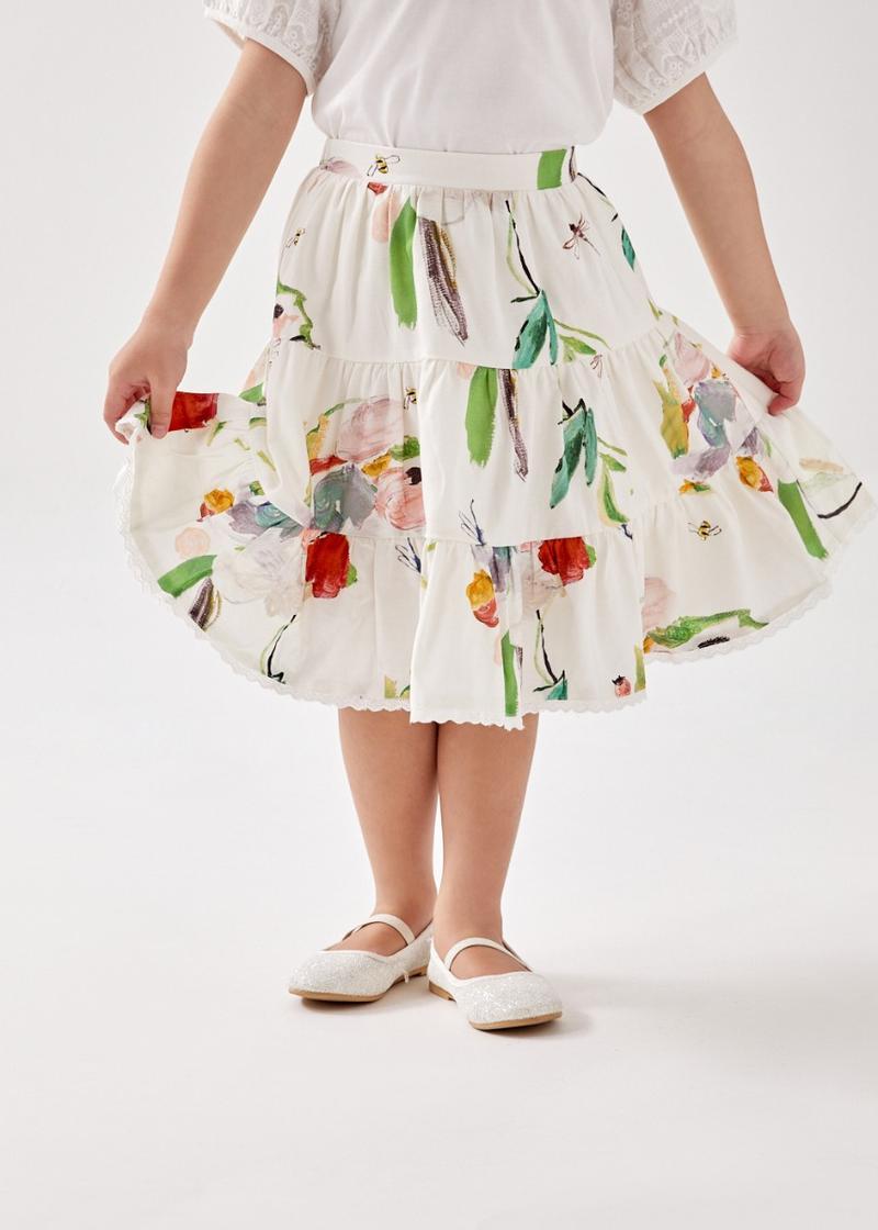 Roise Tiered Skirt in My Secret Garden
