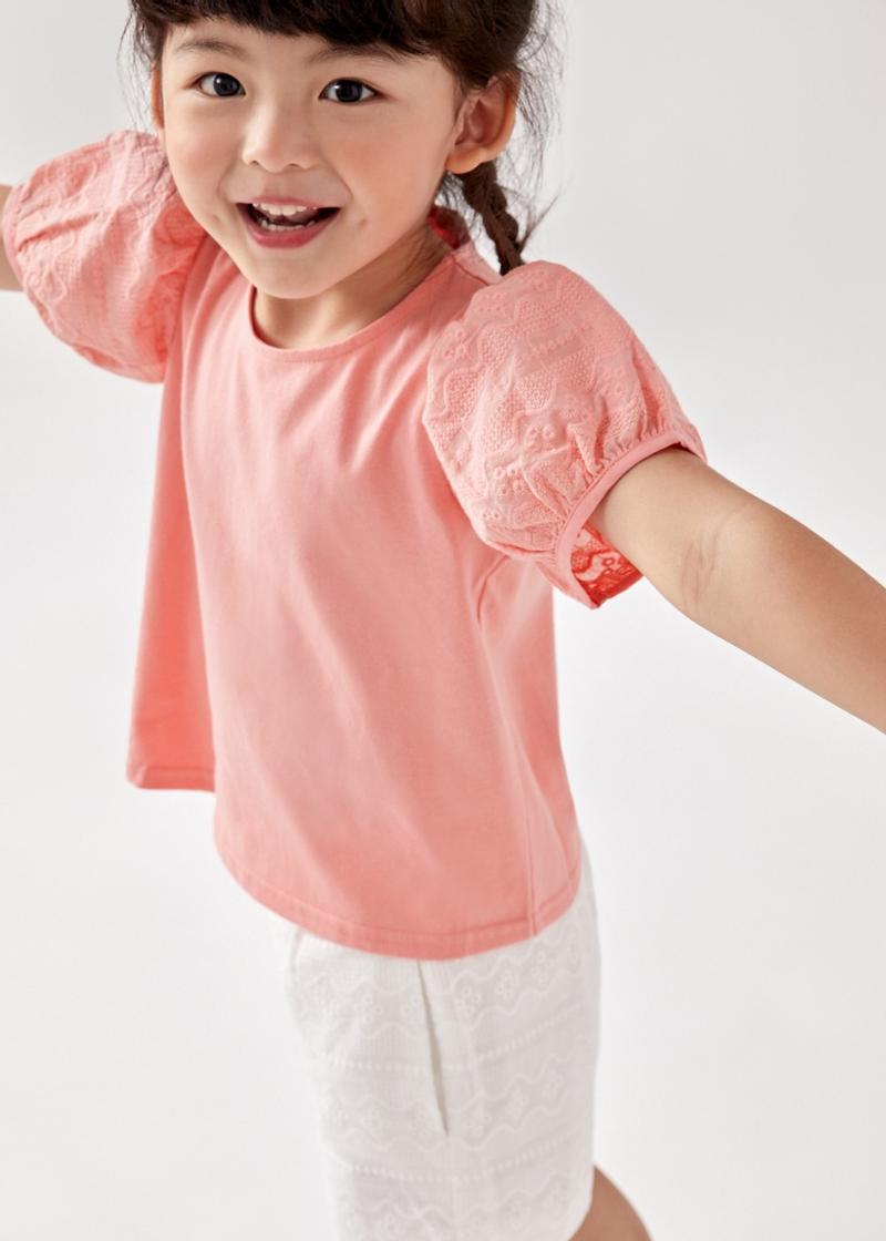 Luxie Broderie Puff Sleeve Top