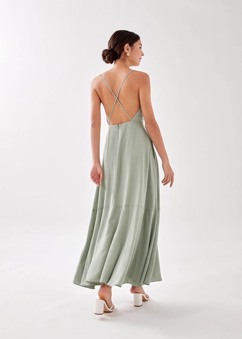 Kaleni Padded Plunge Maxi Dress