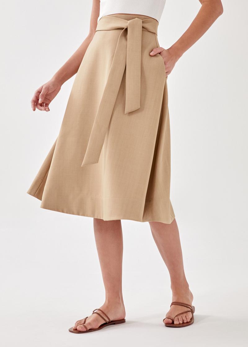 Riek Belted Midi Skirt
