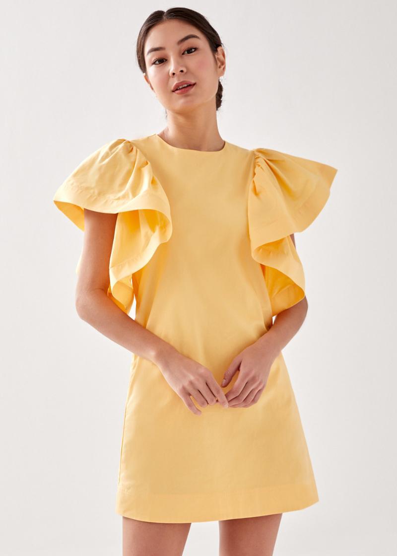 Remia Flare Sleeve Shift Dress