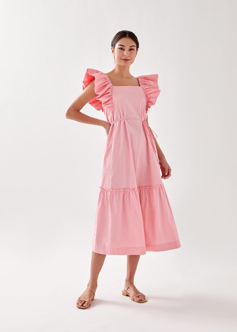 Hennie Ruffle Tiered Midaxi Dress