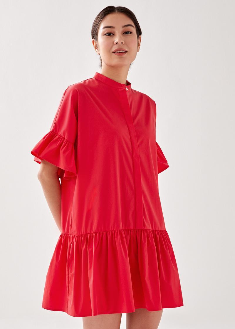 Malia Relaxed Ruffle Shirt Dress