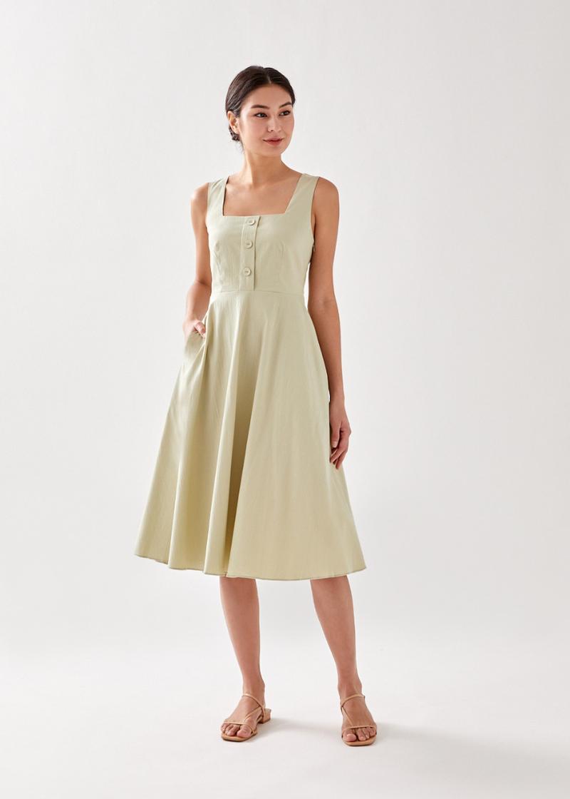 Roselynn Textured Midi Dress
