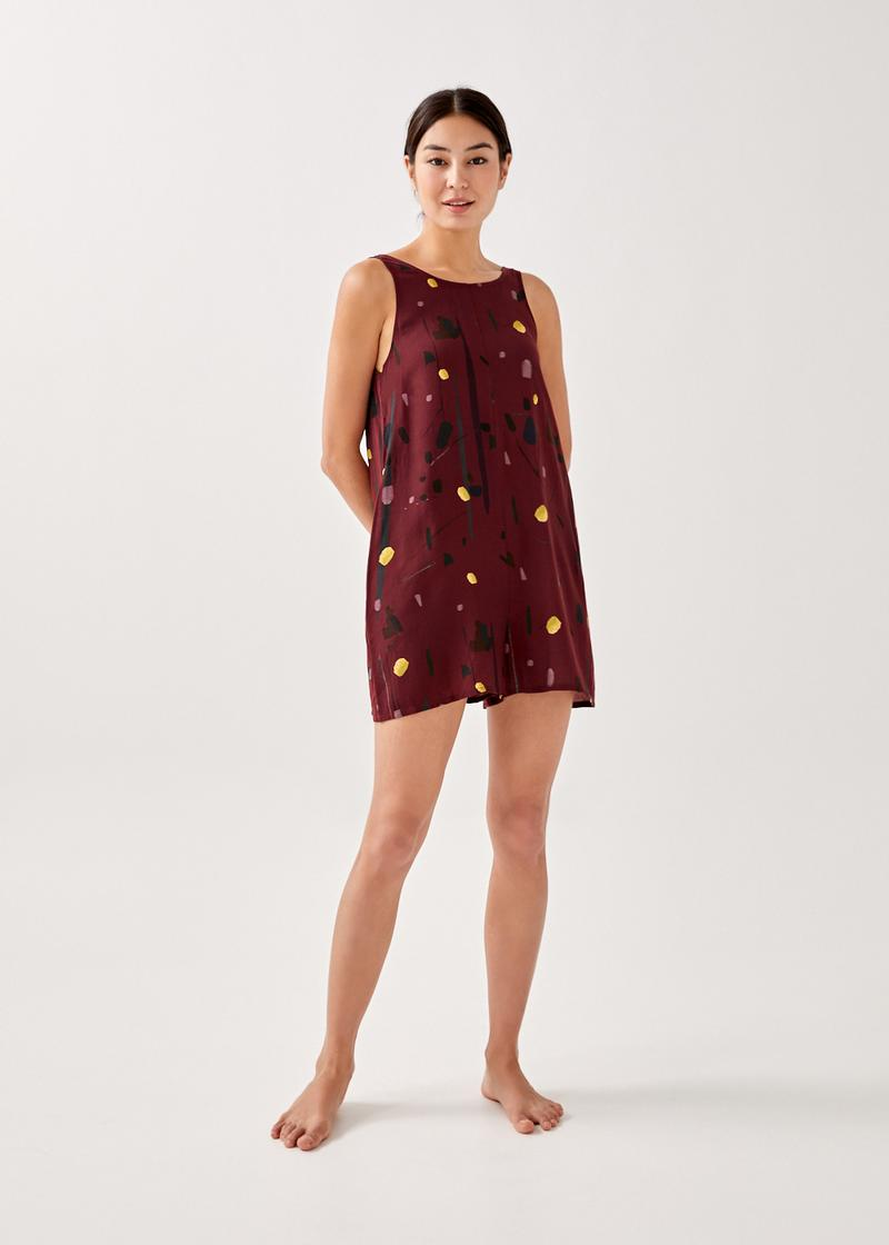 Talitha Low Back Romper in Homecoming