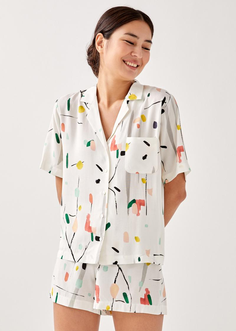 Paige Lounge Shirt in Homecoming