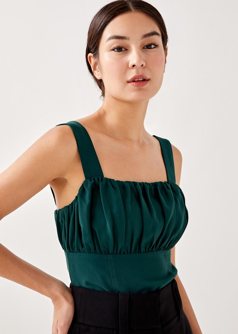 Livia Ruched Bustier Top