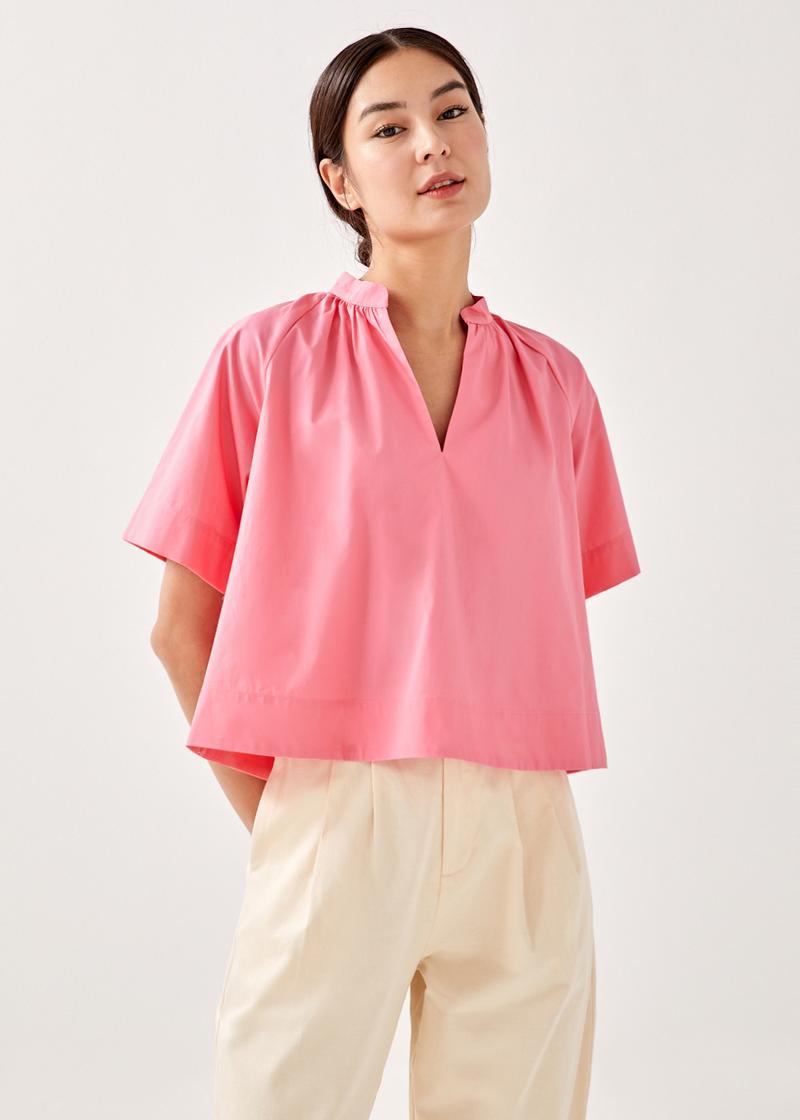 Callio Boxy Shirt Cropped Top