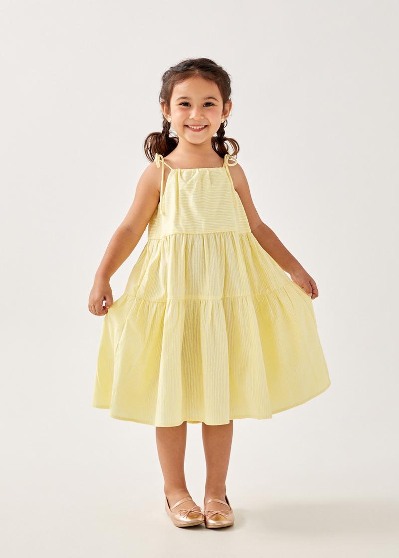 Sofea Tie Shoulder Tiered Dress
