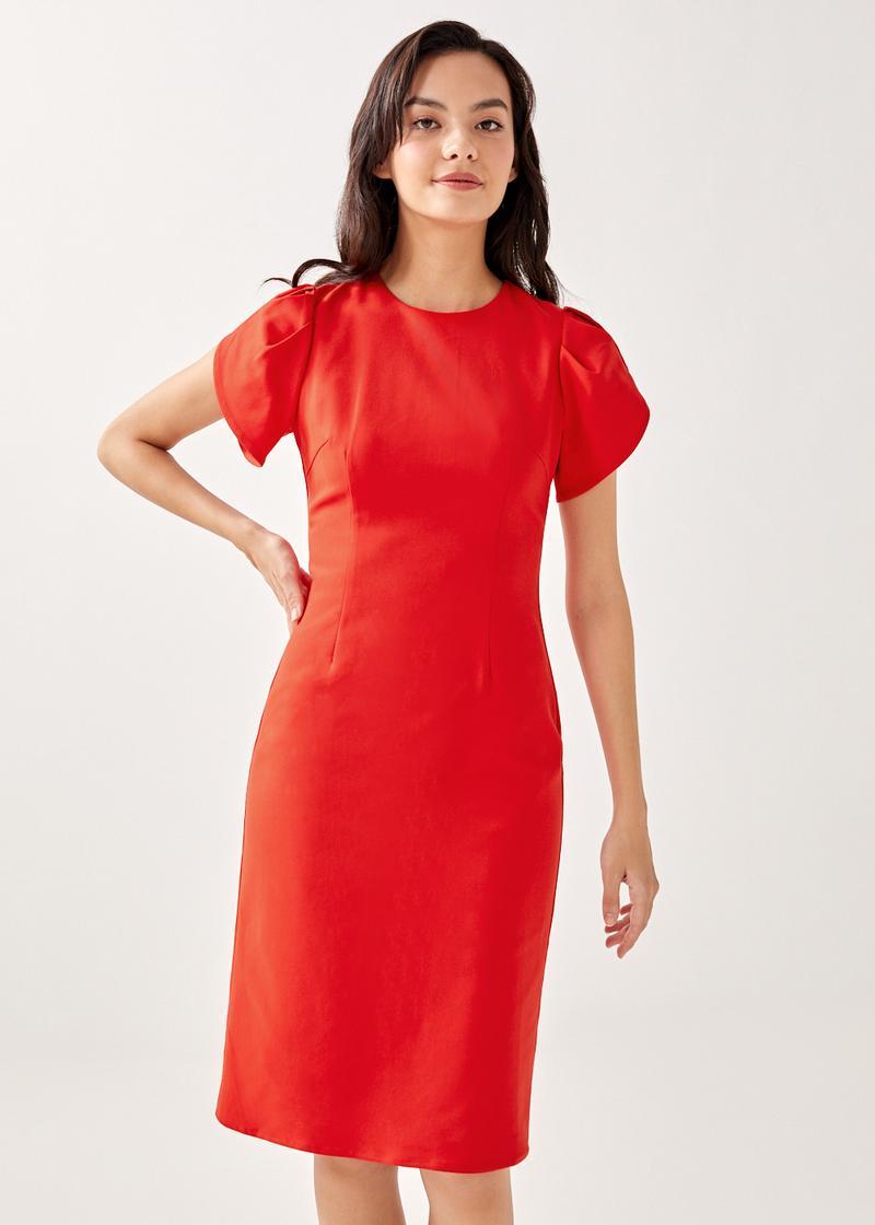 Sarina Classic Pencil Midi Dress