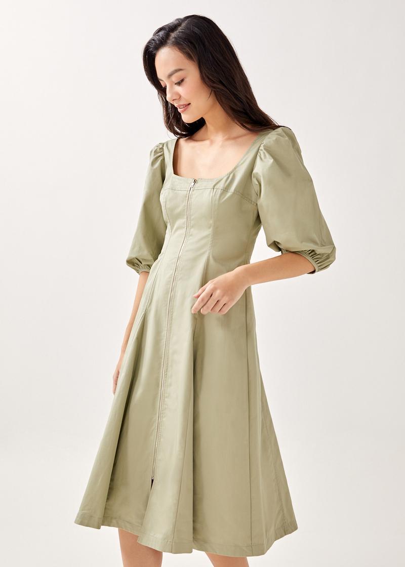 Amerie Tailored Bodice Midi Dress