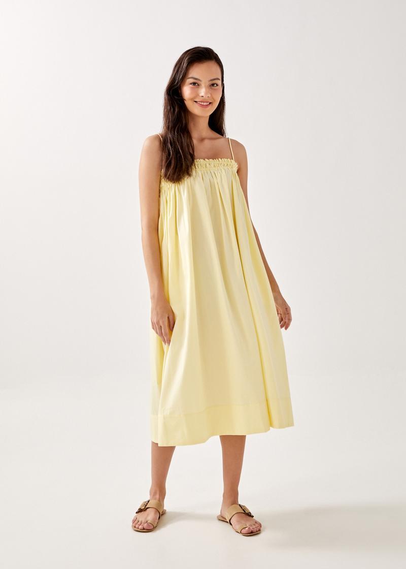 Gianna Camisole Smocked Midaxi Dress