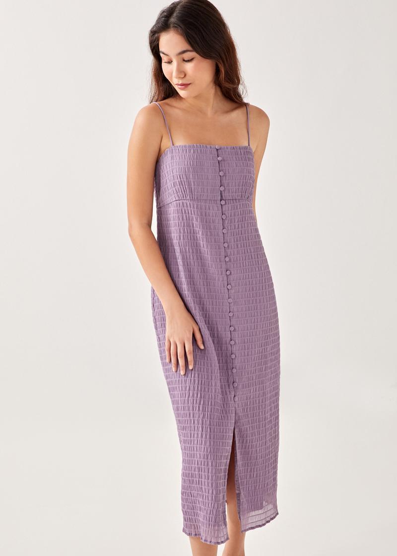 Leilah Textured Column Maxi Dress