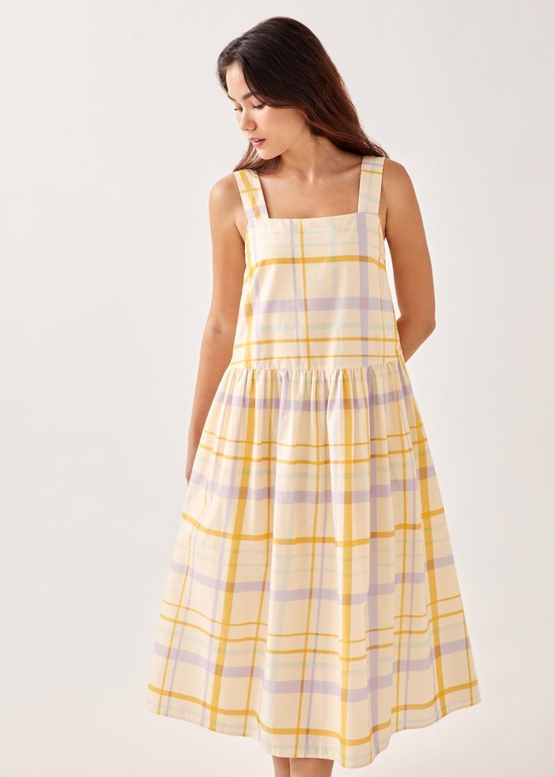 Faerie Gingham Dropwaist Maxi Dress