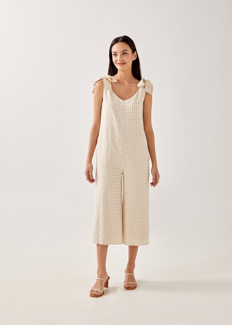 Mynor Gingham Relaxed Jumpsuit
