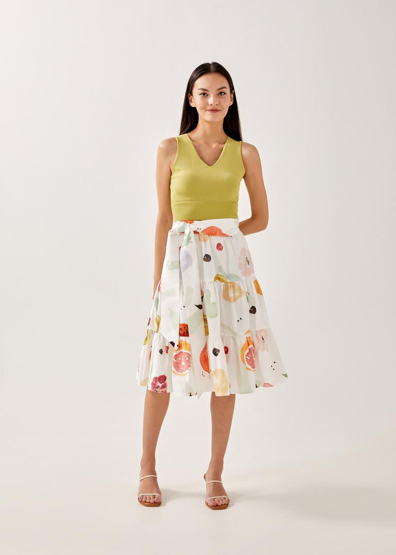 Pirelle Tiered Skirt in Fruity Harvest