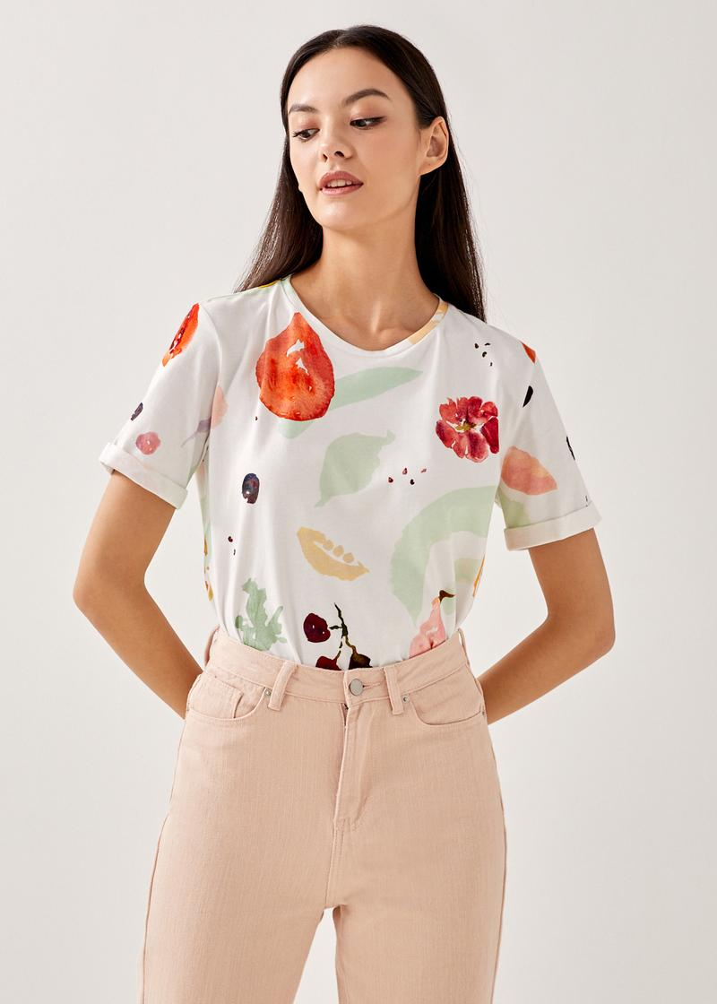 Quince Cotton Tee in Fruity Harvest