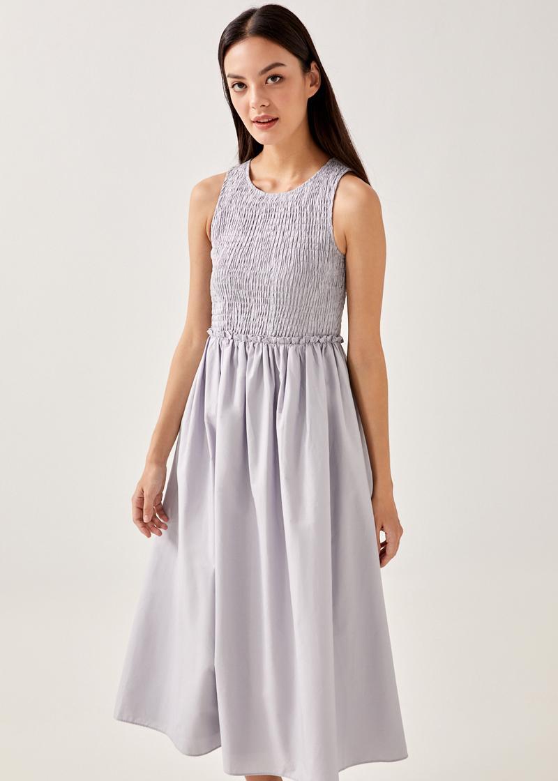 Cammi Smocked Midaxi Dress