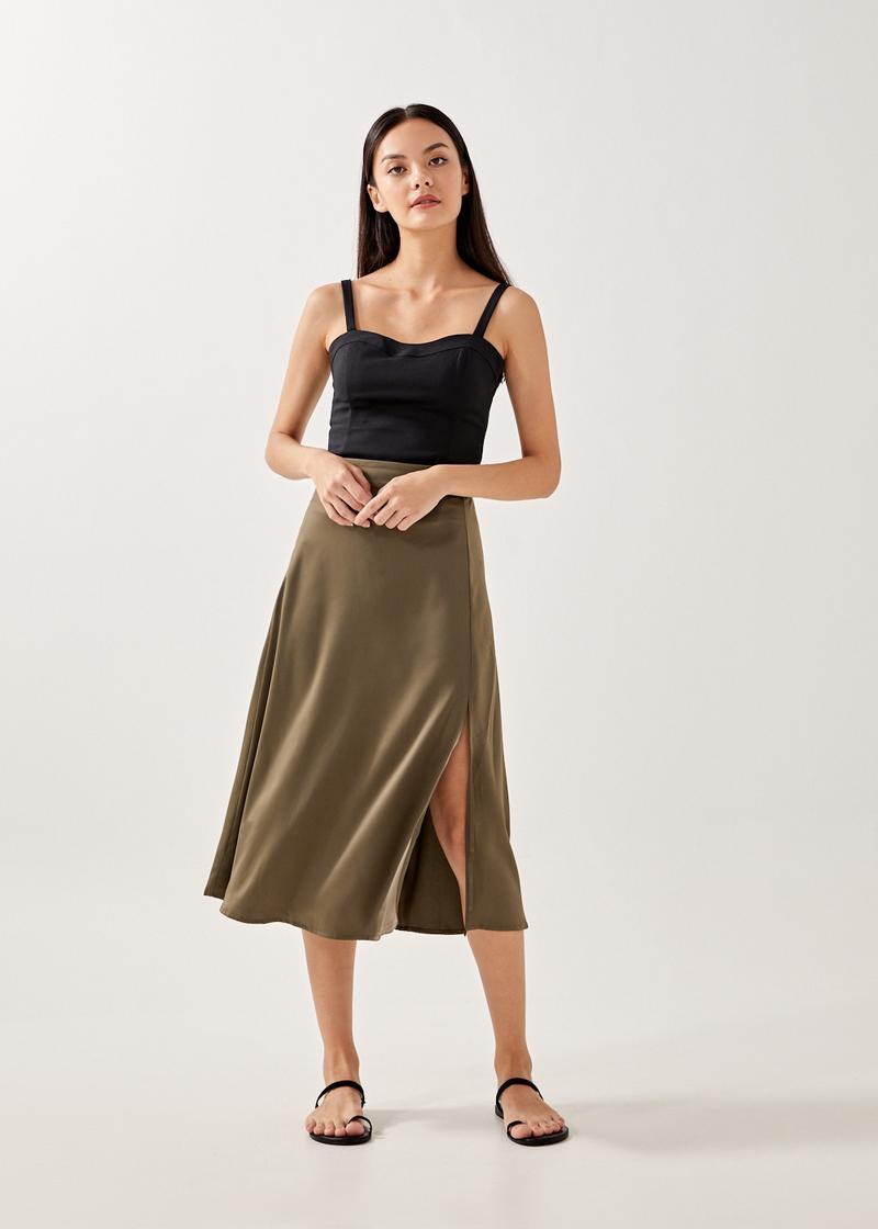 Rheta Slit Slip Skirt
