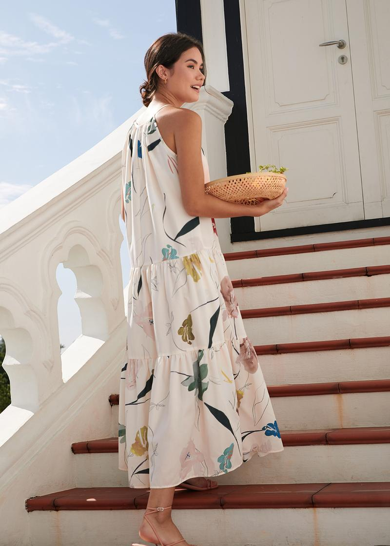 Moira Tiered Maxi Dress in Willowy Florals