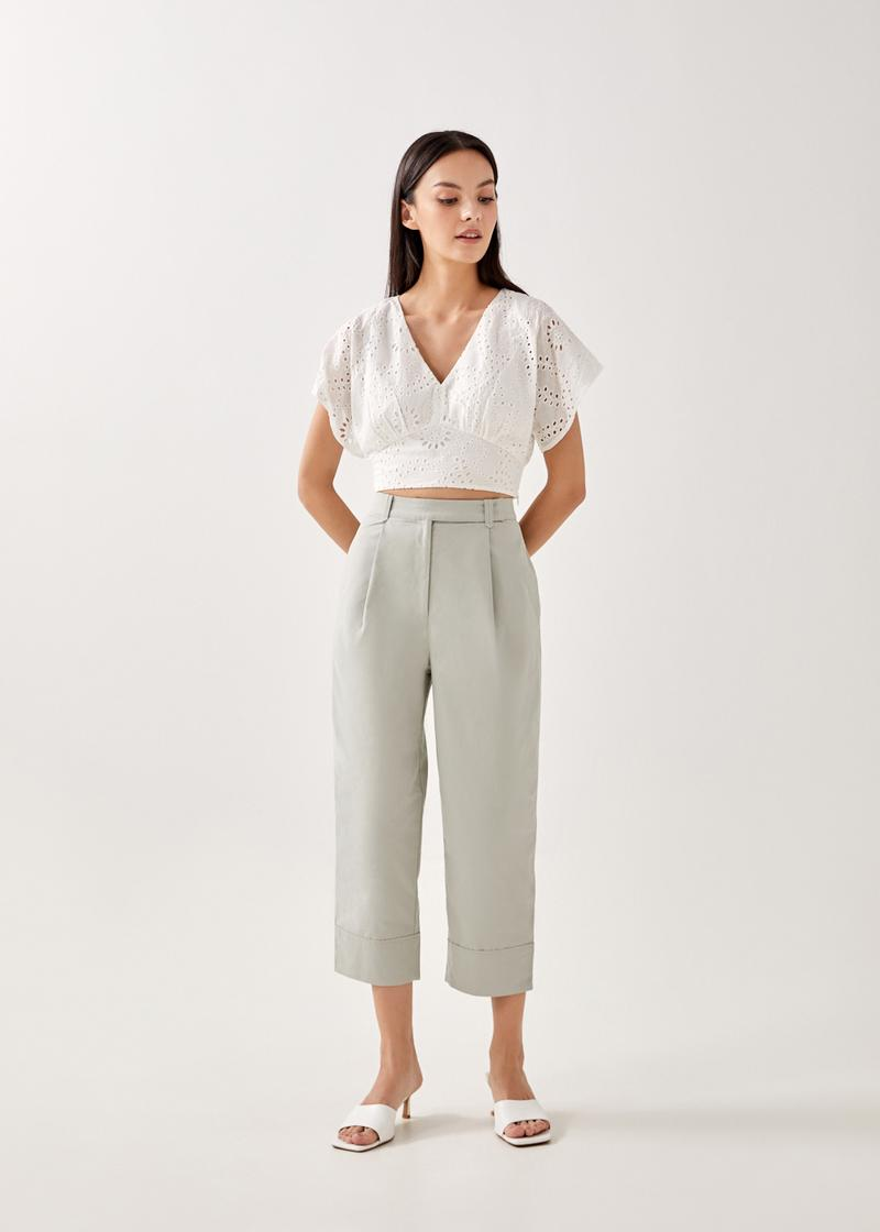 Bree Tailored Cuffed Pants