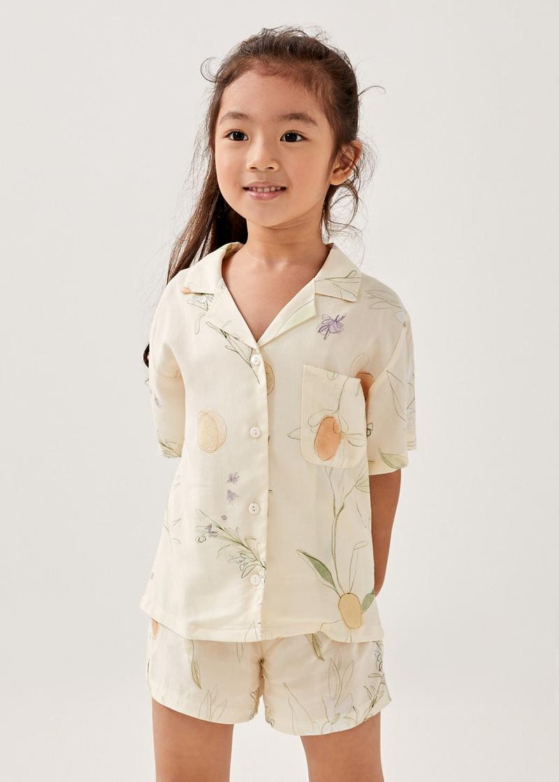 Chevelle Rayon Lounge Shirt in Tuscany Breeze