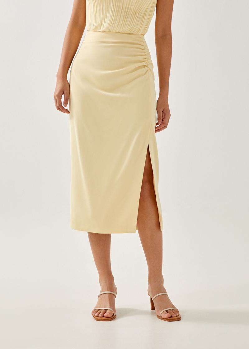 Avalynn Ruched Pencil Skirt