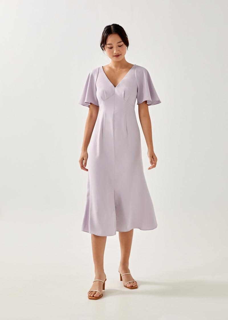 Nadine Flare Sleeve Midaxi Dress