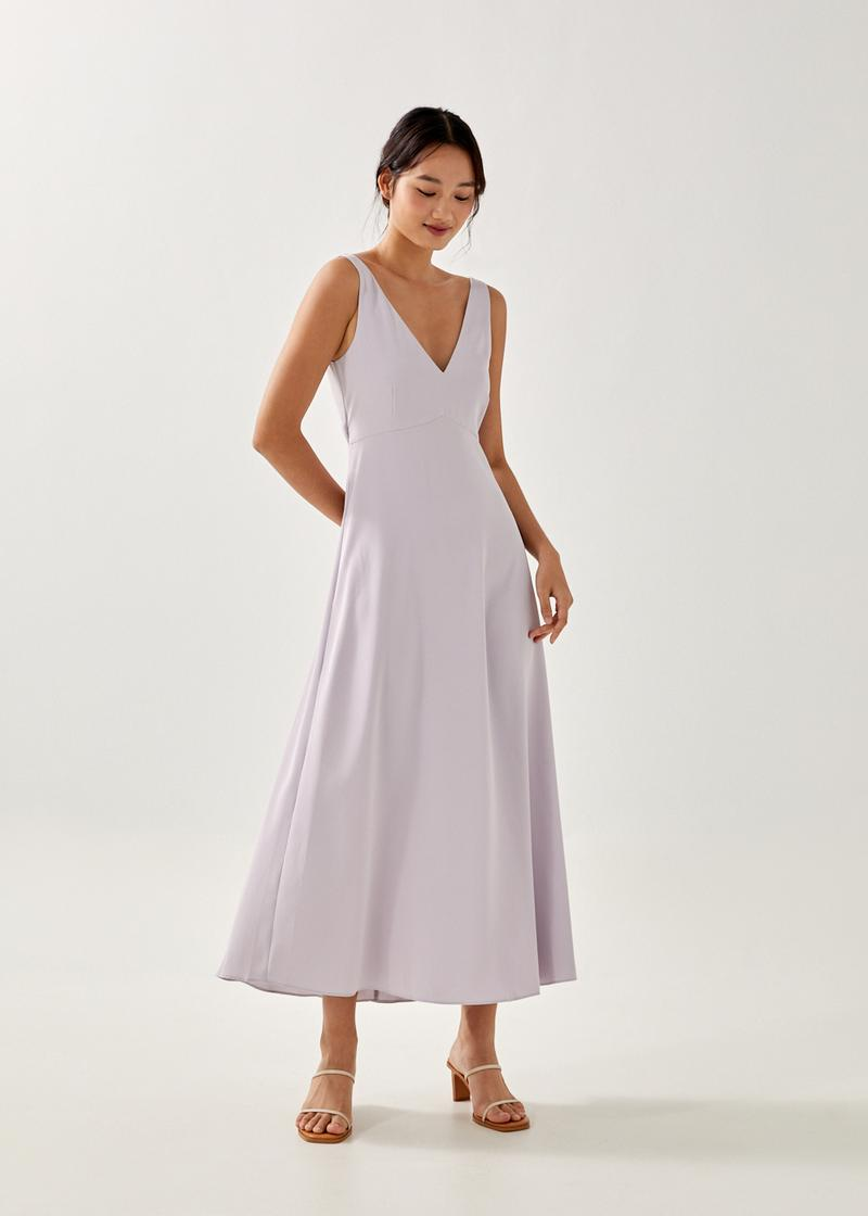 Kendall Plunge Cut Out Maxi Dress