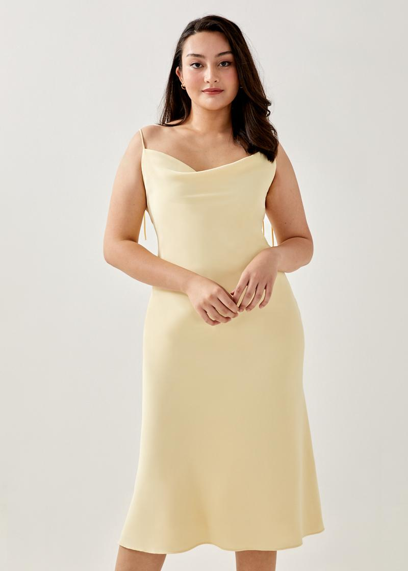 Adrianna Cowl Neck Midi Dress