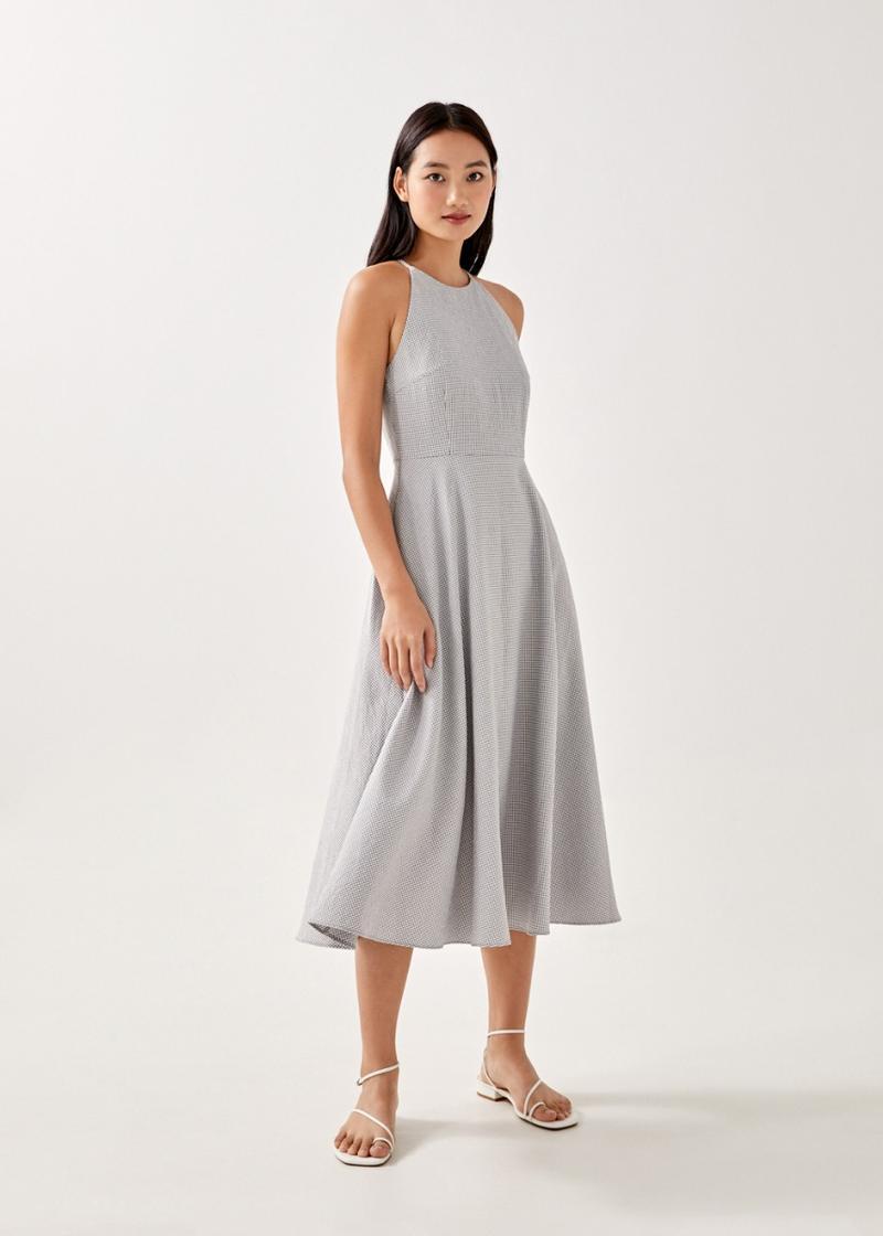 Evalynn Gingham Fit & Flare Dress