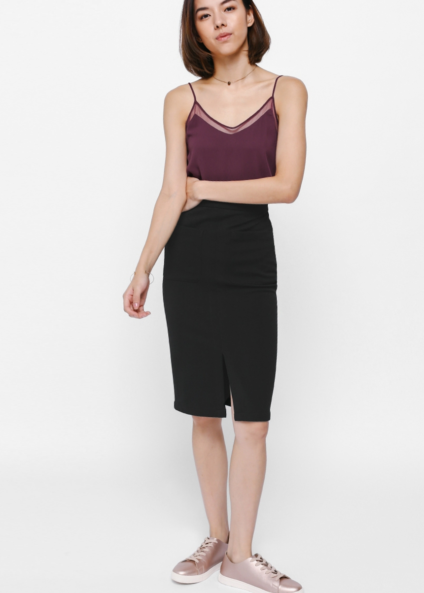 Pheane Pocket Midi Skirt