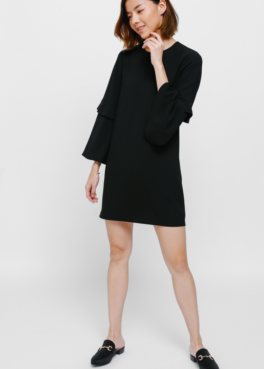 Draeya Layered Bell Sleeve Dress