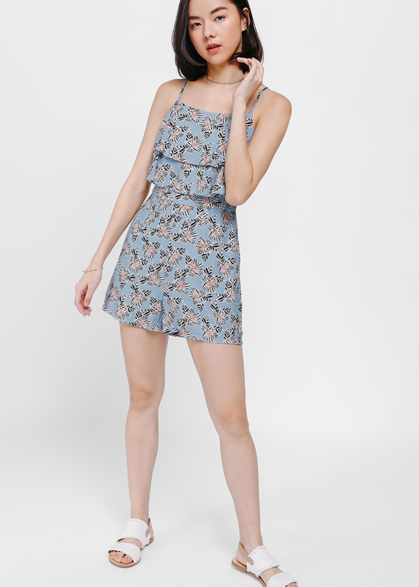 Yageret Layered Printed Romper