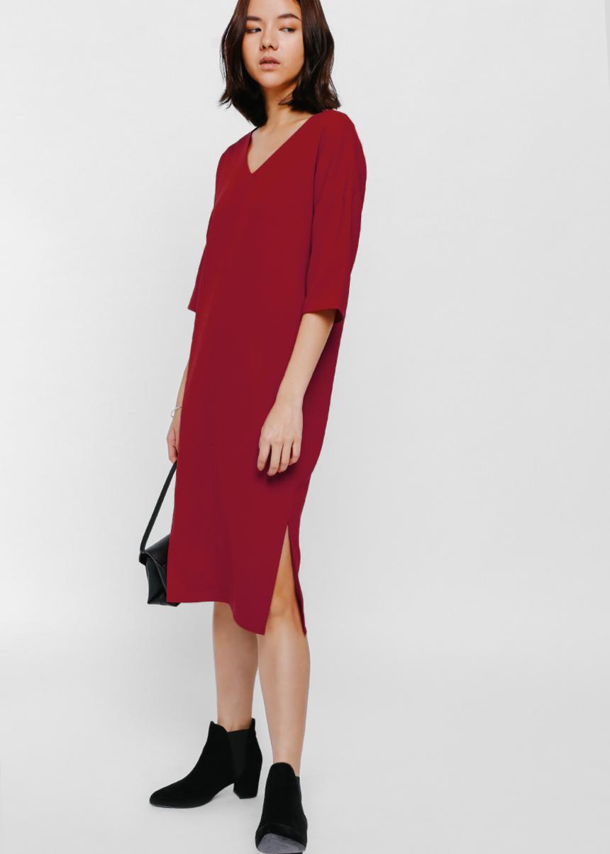 Westerley Slit Midi Dress