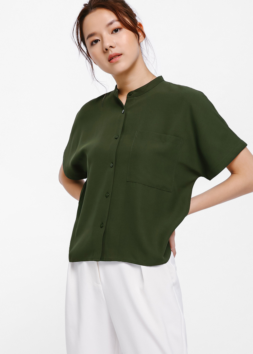 Sevon Boxy Button Shirt