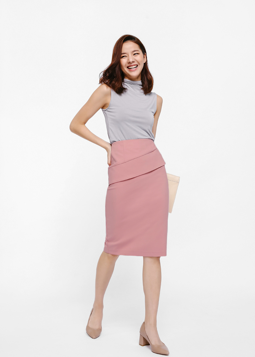 Sazmin Layered Pencil Skirt