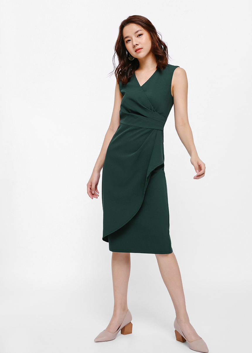 Hyacinth Wrap Pencil Dress