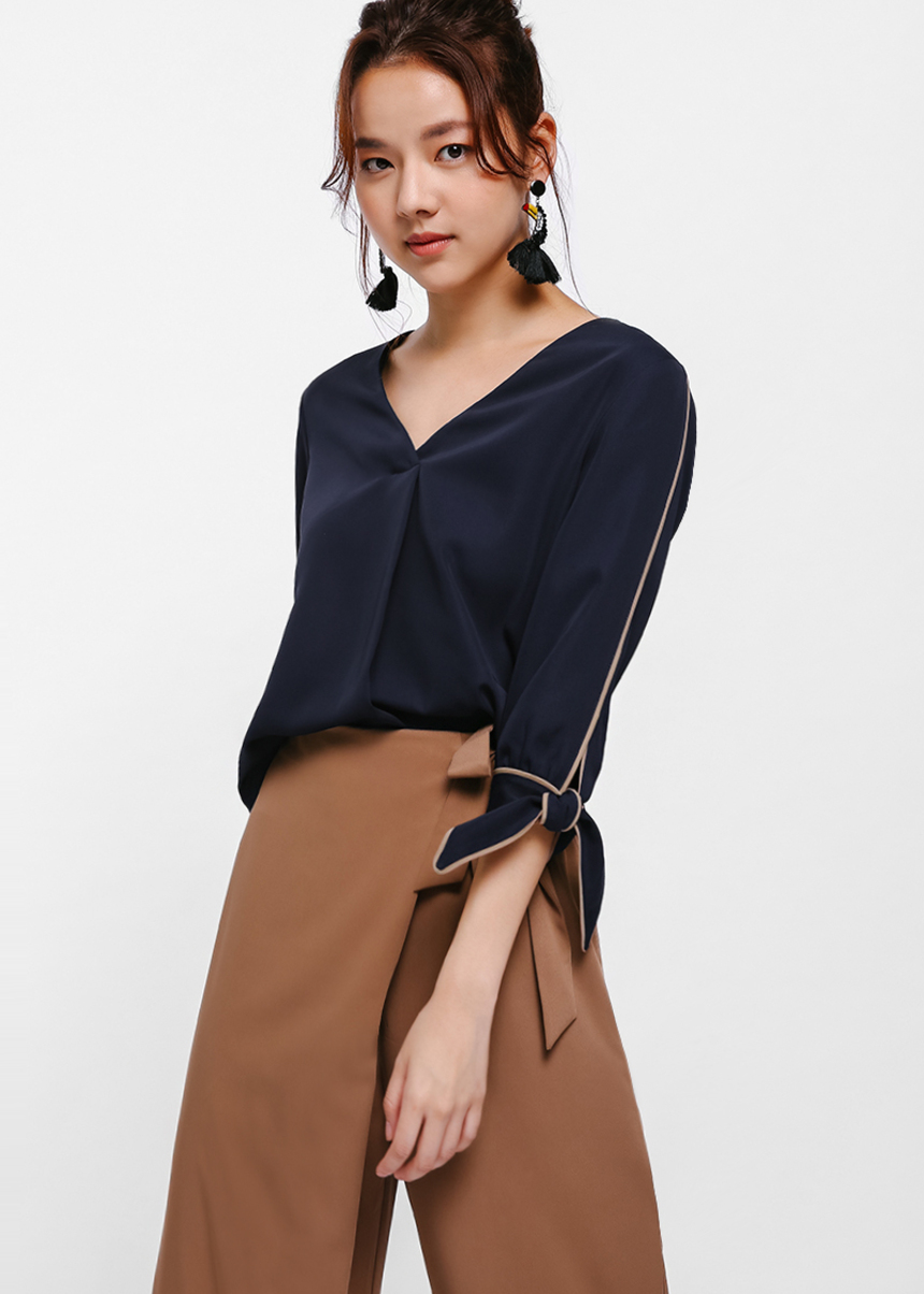 Lovell Bow Cuff Blouse