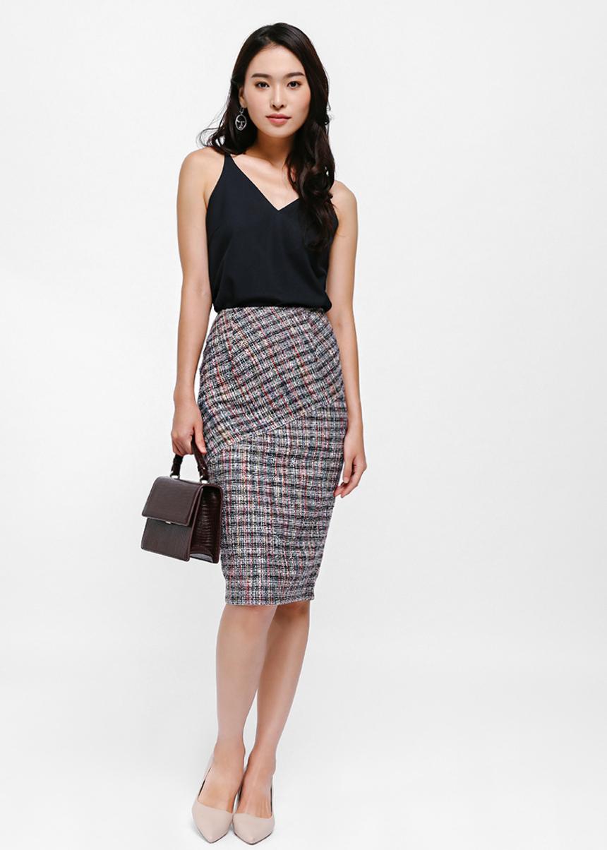 Niccolo Tweed Pencil Skirt