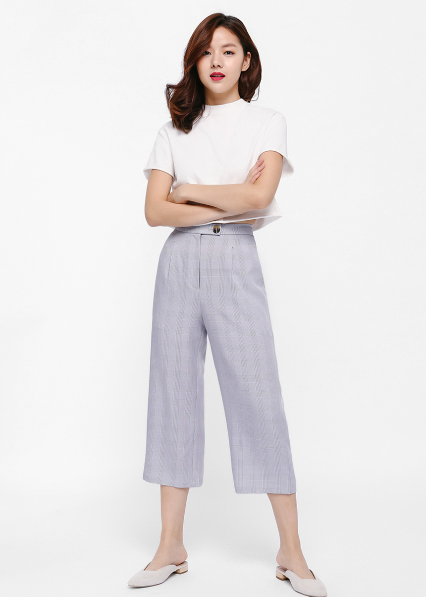 Gerdith Plaid Print Culottes