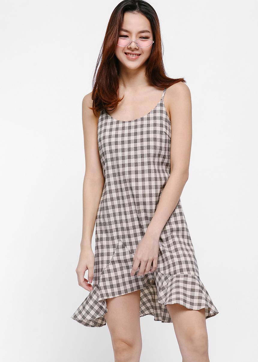 Bianka Gingham Print Dress