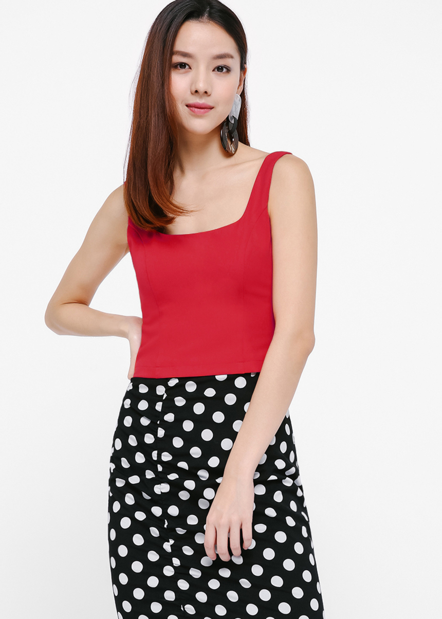 Rufina Tailored Sleeveless Crop Top