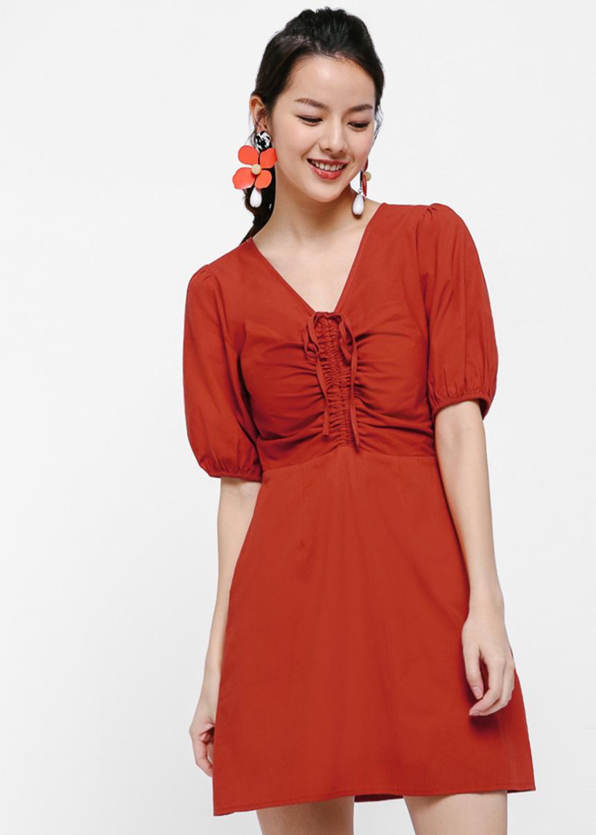 Veronique Puff Sleeve Mini Dress
