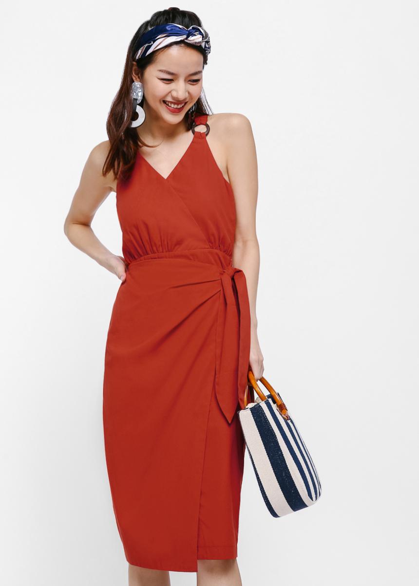 Jessyca Sash Midi Dress