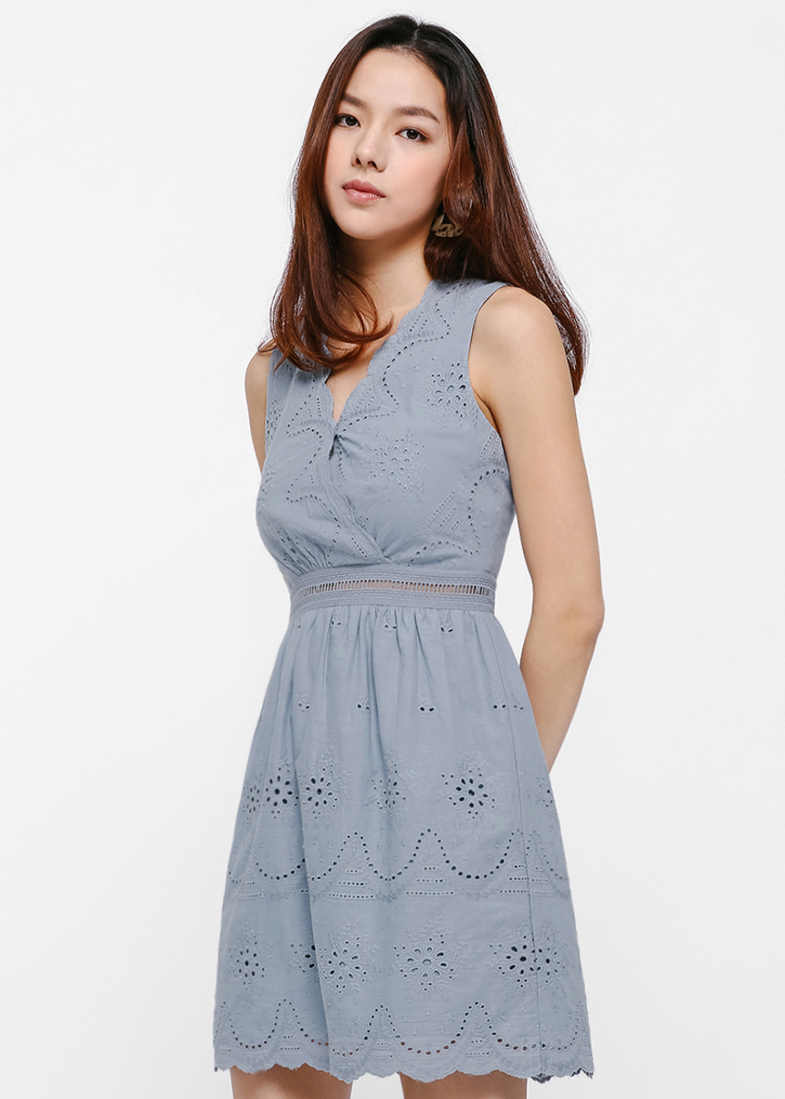 Caspar Broderie Anglaise Dress